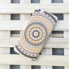 """Clear Plastic Case Cover for iPhone 6Plus (5.5"""") Henna Ethnic Ornament Mandala from milkyway"""