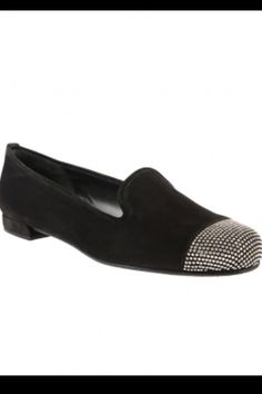 Suede Studded Loafers