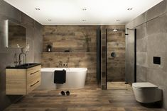 Complete badkamer Winter Wood ✅ Gratis ontwerp ✅ Vakkundige montageservice ✅ 5 jaar garantie ✅ Premium dealer A-merken Modern Bathroom Design, Bathroom Interior Design, Muji Style, Futuristic Home, Beautiful Bathrooms, New Homes, Bathtub, House Styles, Wheels