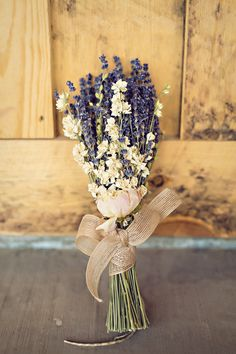 Rosemary in a bunch is just so elegant!   View the full wedding here: http://thedailywedding.com/2015/11/17/antique-winery-wedding-matt-steph/