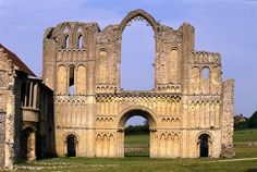 The Warenne family founded this priory at Castle Acre in Norfolk in the late 11th century. The pointed arches of some of the windows are early examples of Gothic church architecture in England.