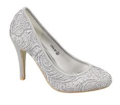 Silver Lace Mother of The Bride Shoes  28.99 pounds