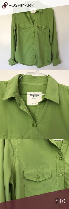Abercrombie & Fitch green button down shirt Super soft to the touch and comfortable to wear. Flowy and flattering. Only worn once and in great condition! Abercrombie & Fitch Tops Button Down Shirts