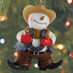 Christmas Ornament - Sale - Western Snowman - 62050 | Leanin' Tree