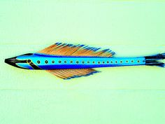 #Electric #Blue #Metallic #Deco #Fish #Frond #art #home #decor #thecraftstar $45.00