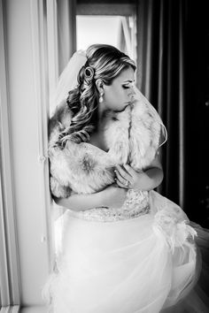winter bride bridal portrait