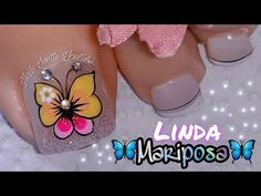 Cute Toe Nails, Cute Toes, Toe Nail Art, Love Nails, Cute Pedicures, Pedicure Nails, Gel Nails, Toenail Art Designs, Gold Nail Designs
