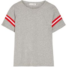 rag & bone Vintage striped cotton-jersey T-shirt ($95) ❤ liked on Polyvore featuring tops, t-shirts, shirts, white tee, white t shirt, loose t shirt, white stripes t shirt and vintage t shirts