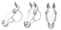 How to Draw Horses: Step-by-Step with Monika Zagrobelna Read all about it at http://www.sketchbook.com/blog/how-to-draw-horses-details-step-by-step/