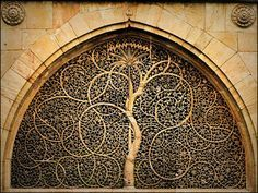 stone carving tree of life