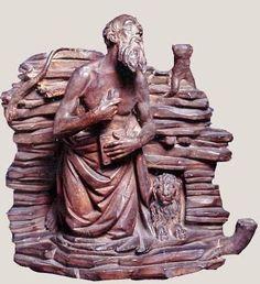 Agnolo di Polo (attribuito) - San Girolamo - fine del XV secolo - terracotta - Museo Horne - Firenze