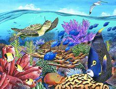 Carolyn Steele painting tropical art print от WaterlemonMoon
