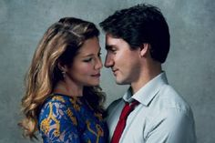 The Trudeaus pose together for Vogue magazine.