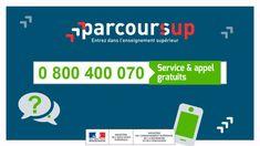 Pour vous accompagner et répondre à vos questions sur votre inscription sur #Parcoursup un n°vert est à votre disposition 📞  0 800 400 70 (depuis la France métropolitaine)