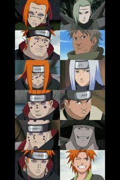 Naruto  the many faces of pain