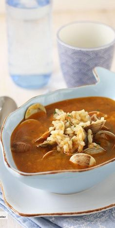 Receta de sopa de chirlas con arroz