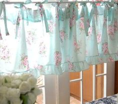 Handmade French Country Cafe Style Burlap And Gingham,with 2 Tires Of  Ruffles | French, Gingham And Handmade