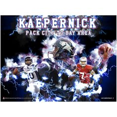 Colin Kaepernick Nevada Wolf Pack Lightning Storm Football Poster - $10.36