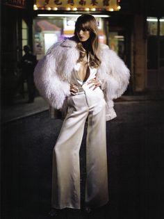 White Disco Duds: Australian Model Abbey Lee Kershaw in 'Starry Mood' in Vogue…