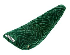 "220552 20"" Banana Saddle Diamond Velour Green."