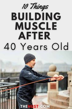 Building muscle after 40 isn't simple and you need to focus more on various things that will help accomplish your goals. When you are over 40, it becomes difficult to build muscles due to aging and other problems. On the other hand, several exercise plans are available for you to gain muscle after 40. You should have enough patience and motivation to build your muscles. Muscle building allows you to live a healthy lifestyle and make sure that you follow tips from health professionals. Gain Muscle, Build Muscle, Building Muscle After 40, Men's Health Fitness, 40 Years Old, To Focus, Healthy Lifestyle, Things To Do, Exercise