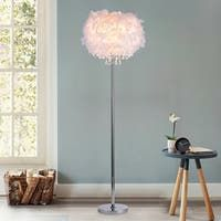 Silver LED Amsterdam Floor Lamp - On Sale - Overstock - 28178910 - large - silver Light Bulb Types, Home Living Room, Living Room Decor, Traditional Lamps, Transitional Wall Sconces, Cool Floor Lamps, Lamp Shades, My Room