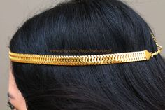 Stunning Gold snake chain headband  by LiveLoveLeaf  #hair #hairstyle #hairdo #hairchain #hairchains #headchain #headpiece #headband #headdress #fashion #style #hairdo #hairjewelry #haircandy #hairbling #hairaccessory #hairaccessories #Grecian #goddess #summer #halo #persian #egyptian #goldheadchain #goldheadband