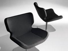 Swivel upholstered easy chair SHE 067 by Tonon design Guggenbichler design