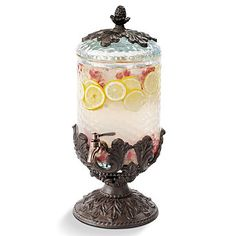 Gracious Goods Small Round Beverage Server. item # 91733 $300.00. Available at NCH Galleries  951-734-5989 www.nchgalleries.com