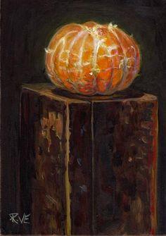 "Daily Paintworks - ""Naked Mandarin orange"" - Original Fine Art for Sale - © Ruth Van Egmond"
