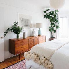 boho neutral bedroom