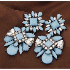 No.:A36212 Цвет: Голубой Размер: 70*35 мм Материал: Сплав, поддельные камни Вес: 40,3 г