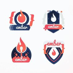Cast-off drafts while developing an Ember 2 course illustration for egghead.  Mix of flames embers and the distinctive handlebar { } brackets used when writing an Ember.js web app.  #ember #handlebars #sketches #javascript #js #drafts #rejects #process #frontend #webdevelopment  #egghead #code #coding #developers #development