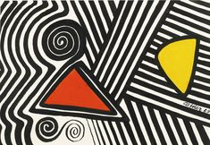 Alexander Calder 1898 - 1976 RED, YELLOW AND MAZE signed and dated 69 gouache and ink on paper 29 by 43 in. Executed in this work is registered in the archives of the Calder Foundation, New York, under application number Africa Art Design, Alexander Calder, Abstract Art Photography, Art, African Art Paintings, Abstract, Contemporary Art, Mid Century Art, Africa Art