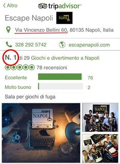Escape Napoli - Via V. Bellini 60  La migliore Escape Room in città - Garantisce Trip Advisor Non fidatevi di Noi...Fidatevi di Voi Prenota Subito 3282925742 (tel & Whatsapp) Prenota Subito 3474172265 (tel & Whatsapp) www.escapenapoli.com #escape #room #napoli #escapenapoli #escaperoom #bellini #fun #viabellini60 @escapenapoli @http://ift.tt/1ShSxrz