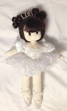 Ballerina White Doll - Musical , Retired Little Ladies
