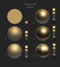 Today's inspiration is the process of drawing gold ✨by eloel on DeviantArt (if you know their Insta account, please share). Do you like… - Pin Tool - Today's inspiration is the process of drawing gold ✨by eloel on DeviantArt (if you know their I - Digital Art Tutorial, Digital Painting Tutorials, Painting Tools, Art Tutorials, Painting Art, Digital Paintings, Drawing Tutorials, Concept Art Tutorial, Sketch Painting