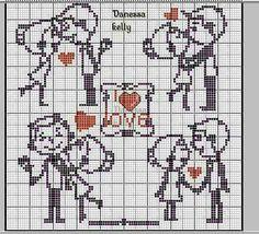 Wedding Cross Stitch, Cross Stitch Heart, Cross Stitch Animals, Cross Stitch Flowers, Loom Patterns, Cross Stitch Patterns, Hama Beads Disney, Graph Paper Art, Charts And Graphs