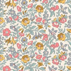 The English Garden Collection Liberty London Fabric Mamie Floral Cotton Colour Variations Available Fat Quarters, Half Metre, Metres - The English Garden Collection Liberty London Fabric Mamie Floral Cotton Colour Variations Ava - Liberty Of London Fabric, Liberty Fabric, Liberty Print, Fabric Factory, Classic Artwork, Fabric Online, Surface Pattern, Surface Design, Textile Design