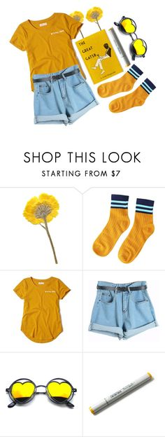 """""""☀️☀️☀️"""" by irishills ❤ liked on Polyvore featuring Hollister Co. and Chicnova Fashion"""