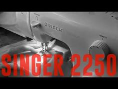 ¿Cuál es la mejor máquina de coser para principiantes? Singer 2250 - YouTube Singer 2250, Youtube, Brother Sewing Machines, Singer Sewing Tables, Get Well Soon, Needlework, Hipster Stuff, Youtubers, Youtube Movies