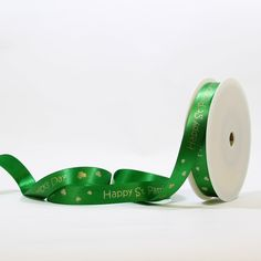 Personalised st Patrick's day printed ribbon supplied on a roll, bespoke ribbon, gift wrapping, happy mother's day ribbon Personalized Ribbon, Printed Ribbon, Happy Mothers Day, St Patricks Day, Gift Wrapping, Prints, Inspiration, Paper Wrapping, Biblical Inspiration