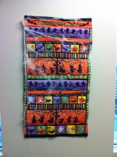 Halloween Wall hanging that I made for my office wall.