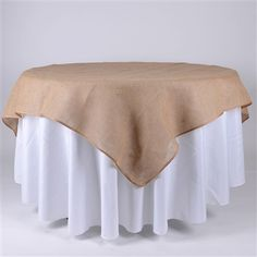 60x60 Inch Fine Rustic Jute Burlap Square Tablecloths - BBCrafts - Wholesale Ribbon, Tulle Fabrics, Wedding Supplies, Tablecloths & Floral Mesh at Best Prices