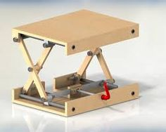 Resultado de imagen para wood scissor lift table Woodworking Workshop, Woodworking Tools, Ikea Drop Leaf Table, Card Table And Chairs, Lift Table, Industrial Office Design, Diy Workbench, Adjustable Table, Homemade Tools
