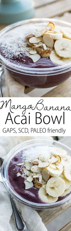 Superfood smoothie treat with acai puree and chia seeds! Perfect summer treat on the GAPS diet, SCD, Paleo, AIP friendly