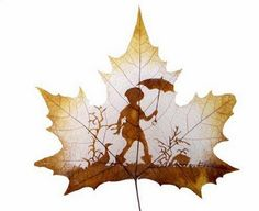 Leaf carving is one of the newest art forms in recent years. These are really outstanding leaf carving art which should be appreciated. Art Et Nature, Nature Crafts, Bright Paintings, Great Paintings, Dry Leaf Art, Painted Leaves, Arte Floral, Land Art, Art Plastique