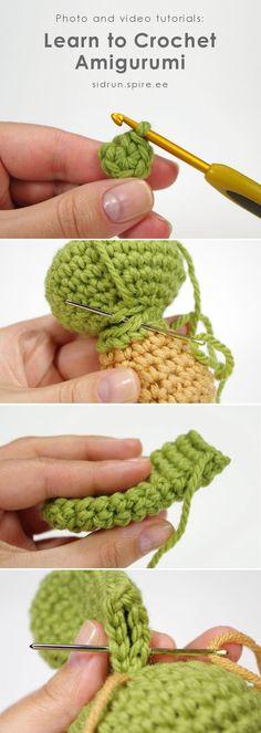 Photo and video tutorials: Learn to crochet amigurumi toys // Kristi Tullus (sidrun.ee) Photo and video tutorials: Learn to crochet amigurumi toys // Kristi Tullus (sidrun.Mingky Tinky Tiger + the Biddle Diddle Dee — Crochet Basics : Amigurumi Ther Crochet Diy, Crochet Basics, Learn To Crochet, Crochet Crafts, Crochet Dolls, Crochet Stitches, Diy Crochet Animals, Crocheted Toys, Amigurumi Tutorial