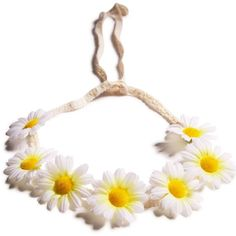 Hi-So Floral Frenzy Headband ($9) ❤ liked on Polyvore featuring accessories, hair accessories, daisy headband, flower headwrap, flower headband, braided headband and floral headband