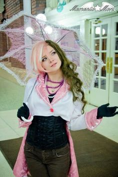 Neo Politan from RWBY cosplayed by NeonSparrow Cosplay on Facebook and photographed by ZombieErnie on DeviantART.